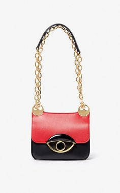 TALI crossbody bag  | Kenzo Eyes Artwork, Eye Shapes, Metal Chain, Cow Leather, Kenzo, Smooth Leather, Fascinator, Crossbody Bag
