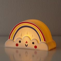 This little rainbow nightlight, designed by artist Michelle Romo, provides the perfect company at bedtime and features a two hour timer.