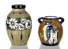 Two Vase, Amphora-Werke, Riessner, Stellmacher & Kessel, Turn bei Teplitz