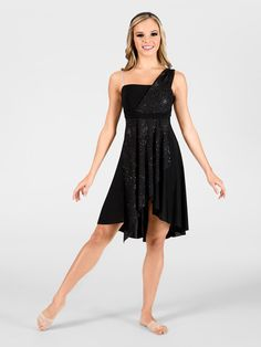 Free Shipping - Adult Asymmetrical Lyrical Dress by DOUBLE PLATINUM