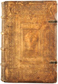 A German sixteenth-century blind-stamped pigskin binding. Author:Brodeau, Jean, 1500-1563 Title:Epigrammatum graecorum libri VII. Published:Basel: Froben, 1549.large.jpg (1620×2350)