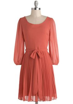 """Top 5 Winter Dresses to Keep You Warm and Stylish"" This lovely dusty rose dress would be perfect for a Southern winter!"