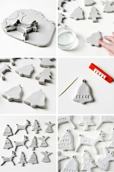 DIY: clay Christmas tree decorations.