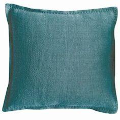 Putetrekk, Petrol, Grov Sandvasket Lin Throw Pillows, Palms, Toss Pillows, Decorative Pillows, Decor Pillows, Scatter Cushions