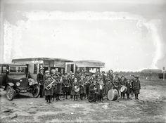 """1924. Washington, D.C. """"Orphans of Des Moines, Wash., at tourist camp."""""""