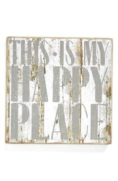 Alternate Image 1 Selected - Primitives by Kathy 'Happy Place/Leave Me Alone' Reversible Box Sign (Nordstrom Exclusive)
