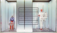 "BARNEY'S MAN, New York, ""F/W - Calvin Klein by Raf Simons"", pinned by Ton van der Veer"