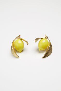 ANDRESGALLARDO Lemon Earrings