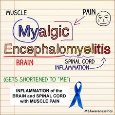ME Awareness: Words and Pictures: Meaning of Myalgic Encephalomyelitis (ME-only version)