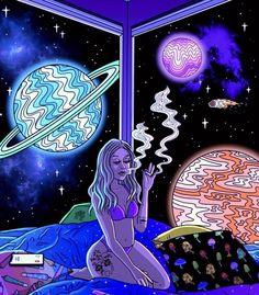 Cannabis Wallpaper, Weed Wallpaper, Hippie Wallpaper, Cartoon Smoke, Dope Cartoon Art, Trippy Cartoon, Smoke Painting, Trippy Painting, Acid Trip Art