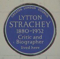 Lytton Strachey, founding member of Bloomsbury Group, 51 Gordon Square