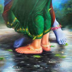 God bless the artist/illustrator . Radha Krishna Love Quotes, Lord Krishna Images, Radha Krishna Pictures, Radha Krishna Photo, Krishna Photos, Krishna Art, Krishna Leela, Baby Krishna, Cute Krishna