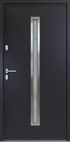 Aluminium HAUSTÜR | weiß od. anthrazitgrau | Modell Nick | Kellertür |Garagentür