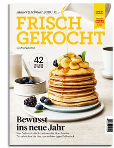 frisch gekocht Magazin - Ausgabe Jänner/Februar 2019 Billa, Pancakes, Cereal, Breakfast, Food, February, Food Food, Cooking, Recipies