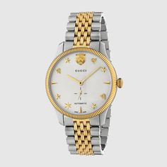 Gold Watches Women, Watches For Men, Stainless Steel Bracelet, Stainless Steel Case, Gold And Silver Watch, Gucci Watch, Timeless Fashion, Luxury Fashion, Fashion Brands