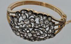 9 carat Georgian diamond bracelet.