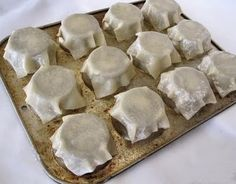 Bake Won Ton wrappers on the underside of a mini muffin tin for a larger cup