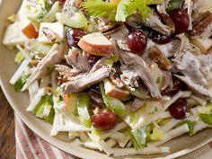 Salada de Peru Natalino - essa salada é uma ótima opção para aproveitar as sobras do peru. Reciclando de uma forma saborosa.