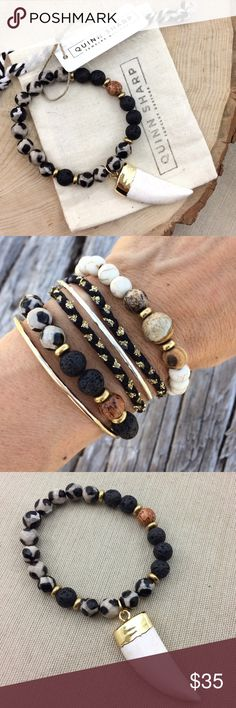 Black/Cream Agate Lava Diffuser Bracelet Genuine Agate gemstone beads. Add a drop of essential oil to the lava beads to diffuse. One size fits most, 7 inches. This listing is for ONE bracelet. Jewelry Bracelets