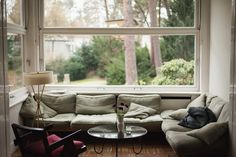 cozy couch & window