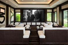 Willoughby Way - contemporary - media room - other metro - Charles Cunniffe Architects Aspen