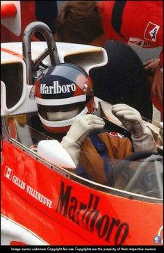 Gilles !!  1st GP !  McLaren M23B  British GP Silverstone 1977