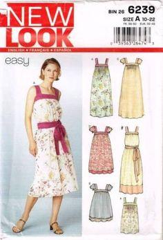 6239 Sewing Pattern New Look Ladies Mu-Mu Dress 10 12 14 16 18 20 22