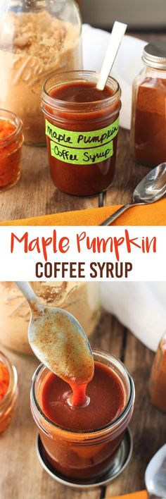 Maple Pumpkin Coffee Syrup - the perfect fall syrup for a jazzed up homemade pumpkin spice latte! mysequinedlife.com