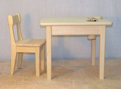 Kids chair and table 3. Детский стул и стол 3.