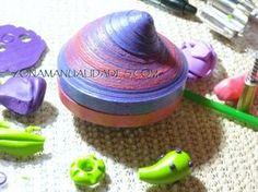 cajita serpentinas 014 Polymer Clay, Paper, Streamers, Crates, Blue Prints, Manualidades, Recycling, Resin, Crafting