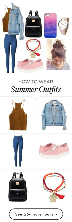 """Feels okay in this outfit"" by destgreen on Polyvore featuring Sugar NY, Vans and Casetify"