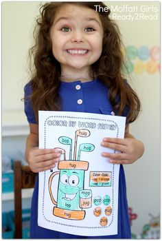 Color by WORD FAMILY! Making learning to read FUN and hands-on for BEGINNING and/or STRUGGLING readers!