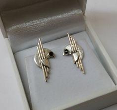 Ohrringe Ohrstecker Silber 925 Onyx Design SO159 von Schmuckbaron