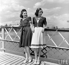 1940s sailor dresses from Life magazine