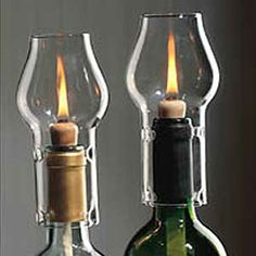 wine corks candled lighting