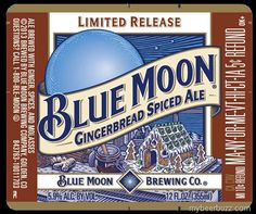 Blue Moon - Gingerbread Spiced Ale