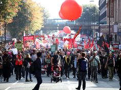 Anti-austerity protest outside Tory conference was overwhelmingly peaceful and dignified, say police | Home News | News | The Independent