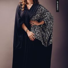 Ombré printed abaya by #mayalhammad .
