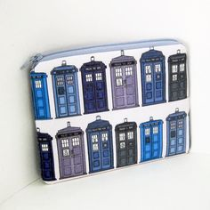 Small Zippered pouch TARDIS Doctor Who Time Travel by OceanPatch, $10.00