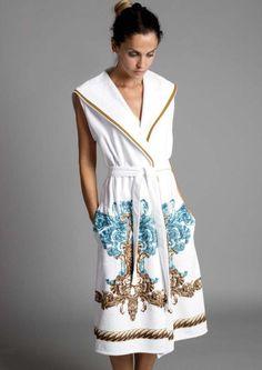 płaszcz kąpielowy, szlafrok z torbą  w SHELEST na DaWanda.com