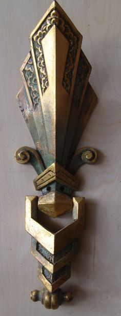 Hey, I found this really awesome Etsy listing at https://www.etsy.com/listing/209924359/art-deco-door-knocker