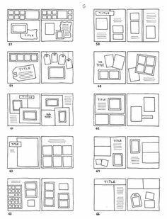 many scrapbook layout ideas...