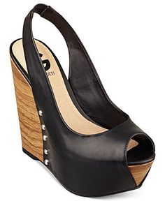 G by Guess Womens Shoes, Exacto Platform Wedge Sandals - Espadrilles & Wedges - Shoes - Macys