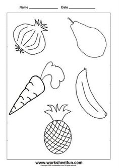 Fruits and Vegetables Coloring Pages Special Needs Blogs