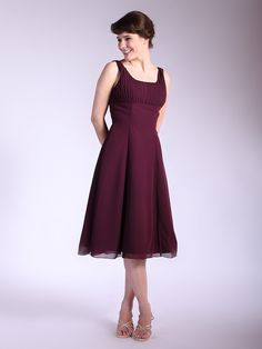 Classic Knee Length Chiffon Bridesmaid Dress | Up to 15% off, plus FREE Custom Made! 10+ measurements required for a perfect fit, no matter what sizes you are in!