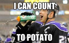 One, two...potato?  this made me laugh really hard!!! idk why!!!!!!! hahahah