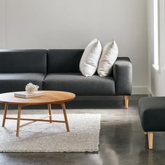 The living room is the heart of the home. Read our top tips to help you choose the perfect sofa for your home. The Block Nz, Apartment Living, Living Room, Sofa, Couch, Fabric Houses, Scatter Cushions, Cushion Covers, Color Trends