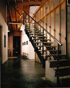 love this industrial look, but that is alot of stairs when your drunk.
