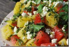 Watermelon Feta Salad closeup
