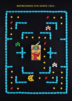 Some funny Tic Tac ads created in tribute to cult retro video games by students of the Miami Ad School in Sao Paolo, recreating vintage games like Pac Man, Sna